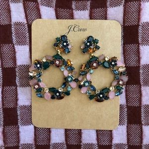 NWT J.Crew floral crystal earrings